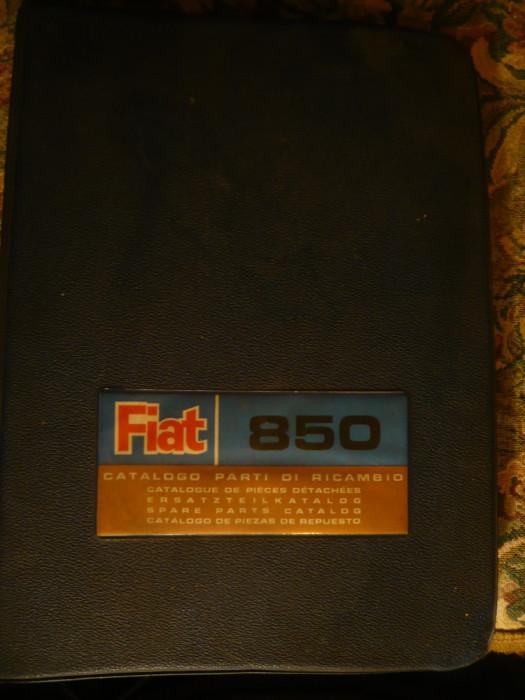 Catalog -Piese de schimb FIAT-850 - Ed. 1967 - desen de carte tehnica foto mare