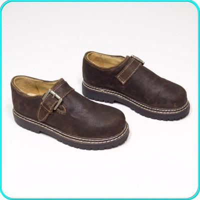 NOI → Pantofi usori, fiabili, piele cu aspect vintage, ALPIN → baieti | nr. 30 foto