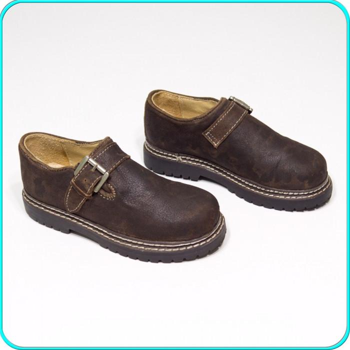 NOI → Pantofi usori, fiabili, piele cu aspect vintage, ALPIN → baieti | nr. 30 foto mare