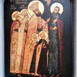 Sfintii Martiri Brancoveni - icoana litografiata pe lemn