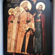 Sfintii Martiri Brancoveni - icoana litografiata pe lemn - Icoana pe lemn