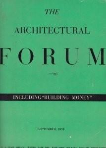 Revista Architectural Forum 1935 interbelica modernism 200 ilustratii reclame foto