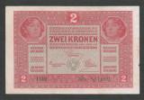 AUSTRIA  AUSTRO-UNGARIA 2  KRONEN KORONA COROANE  1917  [9]   P-21 ,  VF