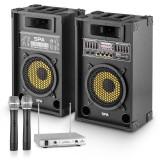 PA-Party Set '' Yellow Star 8'' | 600 W max. PA Sistem | auna microfon-cu-2-canale