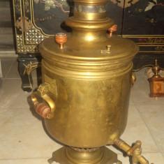 Antic samovar pe jar tara de provenienta Rusia, perioada anilor 1900