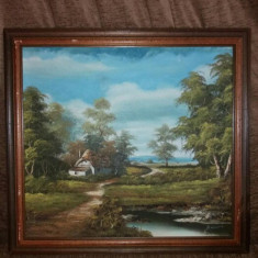 Tablou pictat pe panza - Pictor strain, Peisaje, Ulei, Impresionism