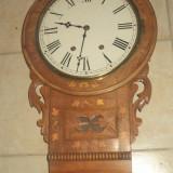 Deosebit ceas ,pendula de perete antic Art-Deco mecanic,functional