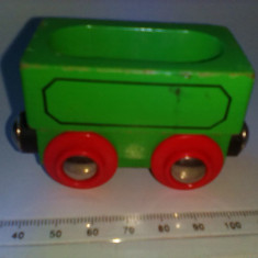 Bnk jc Vagon de lemn pentru trasee - Jucarie de colectie