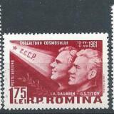 1961 Romania, LP 523 - Al II-lea om in cosmos-Vostok-MH - Timbre Romania, Nestampilat