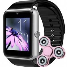 Ceas Smartwatch cu Telefon iUni GT07, Camera, BT, 1.54 inch, Argintiu + Cadou Spinner