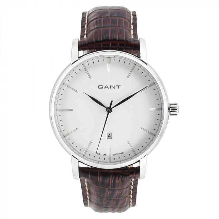 Set cadou Gant-ceas si portcard din piele naturala foto mare