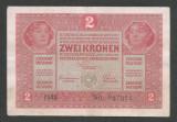 AUSTRIA  AUSTRO-UNGARIA 2  KRONEN KORONA COROANE  1917  [10]   P-21 ,  F