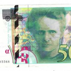 Franta 1994 - 500 francs Pierre & Marie Curie - bancnota europa