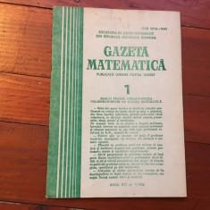 Revista / Gazeta matematica anul XCI nr 1 / 1986 ! - Revista scolara