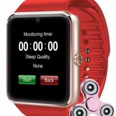 Ceas Smartwatch cu Telefon iUni GT07, Camera, BT, 1.54 inch, Rosu + Cadou Spinner