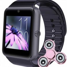Ceas Smartwatch cu Telefon iUni GT07, Camera, BT, 1.54 inch, Aluminiu + Cadou Spinner