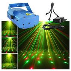 Laser disco lumini club ROSU si VERDE