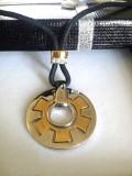 Colier PANDORA INOX placat cu aur 18k si cristale zirconia