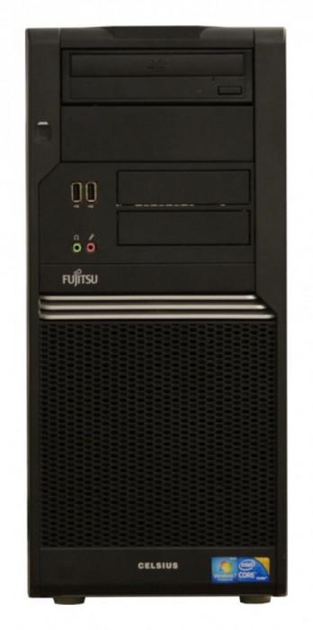 Calculator Fujitsu Celsius W370 Tower, Intel Pentium Dual Core E2200 2.2 GHz, 2 GB DDR2, 160 GB HDD SATA, DVD-ROM foto mare