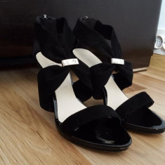Sandale piele negre 38