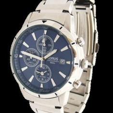 Ceas Lorus YM62-X166 albastru alarma chronograph cronometru quartz - Ceas barbatesc Lorus, Casual, Otel