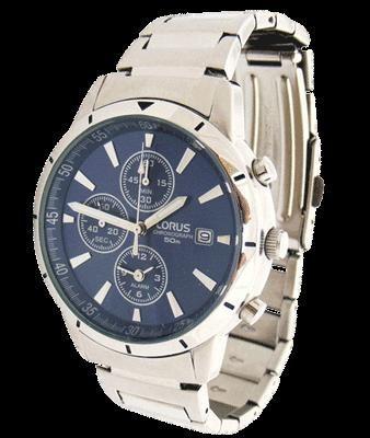 Ceas Lorus YM62-X166 albastru alarma chronograph cronometru quartz foto mare