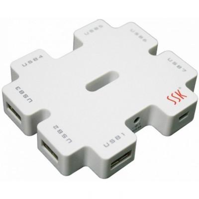 Hub USB 2.0 SSK SHU11 Alb foto