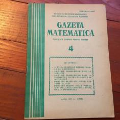 Revista / Gazeta matematica anul XCI nr 4 / 1986 ! - Revista scolara
