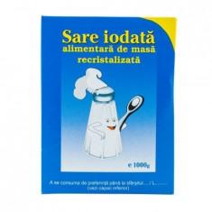 Sare alimentara de masa iodata recristalizata Salrom, 1kg - Condiment