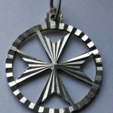 Simbol pandantiv Crucea de Malta semn masonic argint Crucea de fier - Pandantiv fashion