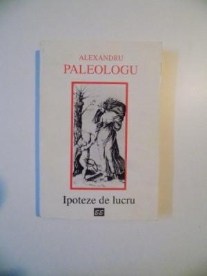 IPOTEZE DE LUCRU de ALEXANDRU PALEOLOGU , 1996 foto