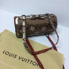Louis Vuitton Monogram Cherry Blossom papion cu diamante Swarovski - Geanta Dama Louis Vuitton, Culoare: Maro, Marime: Mica