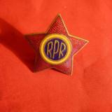 Insigna Militara de Sapca Ofiter RPR, metal si email, d= 3, 5 cm