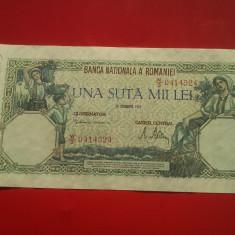 100000 LEI 1946-ROMANIA-XF - Bancnota romaneasca