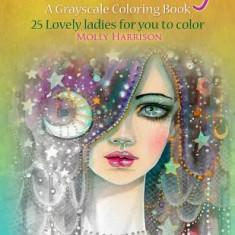 Bohemian Fantasy: A Grayscale Coloring Book - Carte de colorat