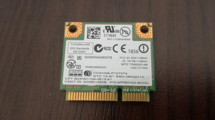 Placa de retea Wireless Intel 112BNHMW foto mare