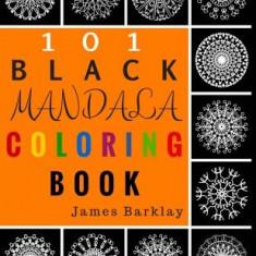 101 Black Mandala Coloring Book - Carte de colorat