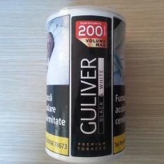 Tutun Guliver Black&White volum 90 grame-tutun pentru rulat/injectat