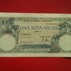 100000 LEI 1946-ROMANIA - Bancnota romaneasca