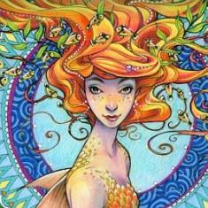 Portrait of the Mermaid Coloring Book - Carte de colorat