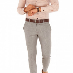Camasa cu imprimeu - camasa barbati - camasa slim - camasa fashion - cod 8985, Marime: XL/XXL, Culoare: Din imagine, Maneca lunga