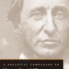 A Political Companion to Henry David Thoreau - Carte in engleza