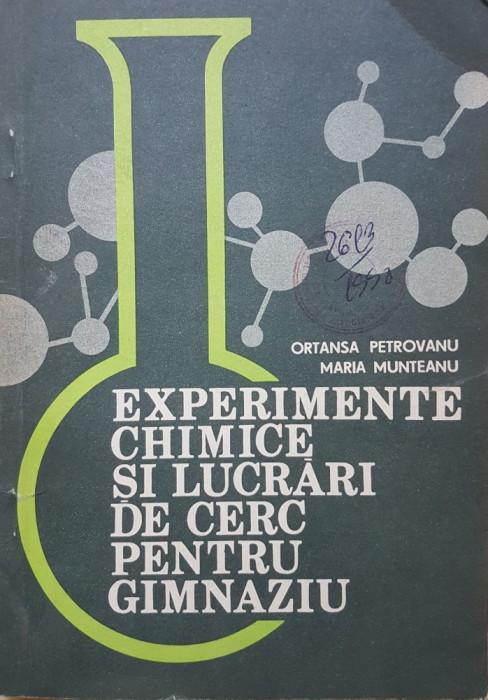 EXPERIMENTE CHIMICE SI LUCRARI DE CERC PENTRU GIMNAZIU - Petroveanu, Munteanu foto mare