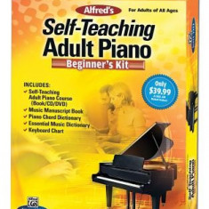Alfred's Self-Teaching Adult Piano Beginner's Kit [With CD (Audio) and DVD and Dictionary] - Carte in engleza