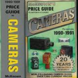 Carte foto ghid de preturi aparate foto McKeowns Cameras 1990-1991. Made in USA.