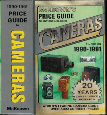 Carte foto ghid de preturi aparate foto McKeowns Cameras 1990-1991. Made in USA. foto