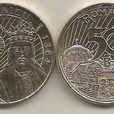 ROMANIA 50 BANI 2014 VLADISLAV VLAICU, UNC - ( necirculata ) din fisic - Moneda Romania, Alama