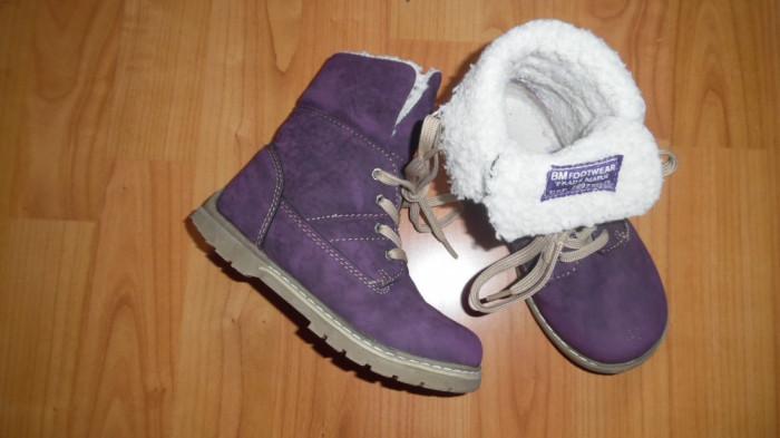 Ghete mov cu blana, mas 28, BM Footwear Trade Mark foto mare
