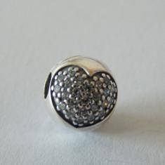 Talisman Pandora autentic 791053CZ Inima Pave - Pandantiv argint