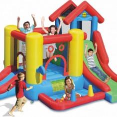 Saltea gonflabila Play Center 7 in 1 Happy Hop - Casuta copii